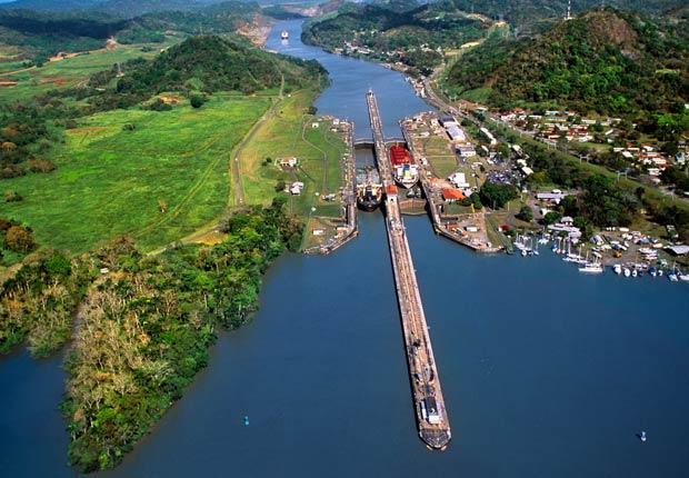 Vista aérea del Canal de Panamá, 10 hechos inusuales sobre el
